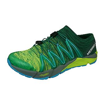 Merrell Bare Access Flex Knit Mens Trail Running Trainers / Shoes - Lime
