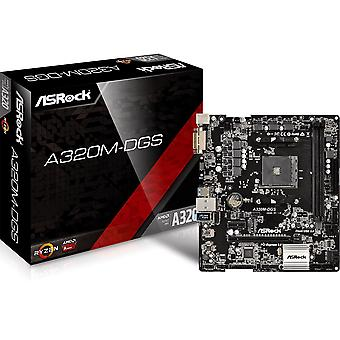ASRock A320M-DGS AMD AM4 m2 mATX SSD USB-Desktop PC DVI Motherboard