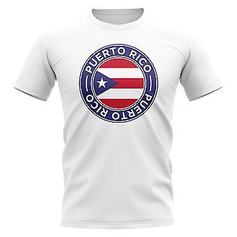 Puerto Rico Fußball Abzeichen T-Shirt (weiß)