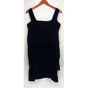 Isaac Mizrahi Live! Women's Plus Sweater Turtleneck Navy Blue A295899