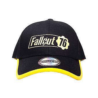 Fallout Vault 76 Baseball Cap Logo jaune nouveau officiel noir Snapback