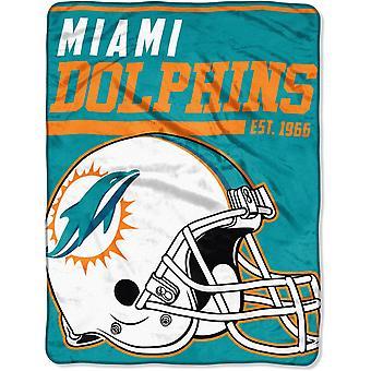 Northwest NFL Miami Dolphins Mikro Plüschdecke 150x115cm