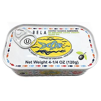 Bela Sardines Lightly Smoked Organic Extra Virgin Olive Oil