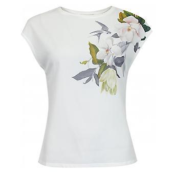 Ted Baker Opal Print Silk front T-shirt
