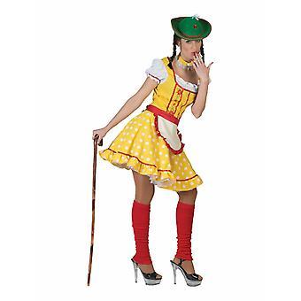 Yellow Tyrolean Costume Women Costume Dress Dirndl Women's Costume Bayernlook Carnival