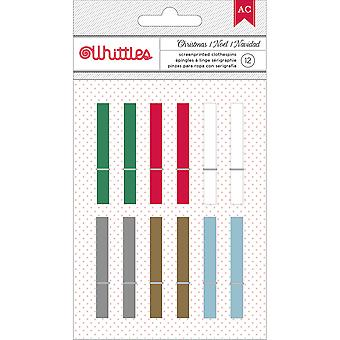 Whittles Christmas Clothespins 12/Pkg-Basics 369602