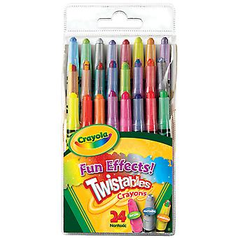 Twistables Fun Effects Crayons 24 Pkg Neon, Metallics, Rainbow 52 9824