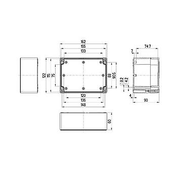 Build-in casing 162 x 122 x 90 Polycarbonate (PC) Light grey (RAL 7035) Spelsberg TG PC 1612-9-to 1 pc(s)