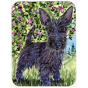 Scottish Terrier Glass Cutting Board Large