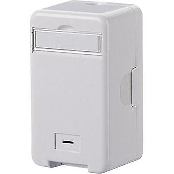 Network outlet Surface-mount Unequipped 1 port Metz Connect Pure white