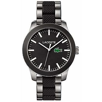 Lacoste Mens Black Dial Black Rubber And Stainless Steel Strap 2010890 Watch