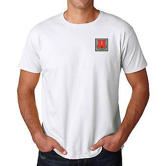 Escuela de infantería bordado Logo - ejército británico oficial Ringspun T Shirt