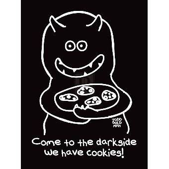 Dark Side of Cookies Poster Print by Todd Goldman (12 x 16)