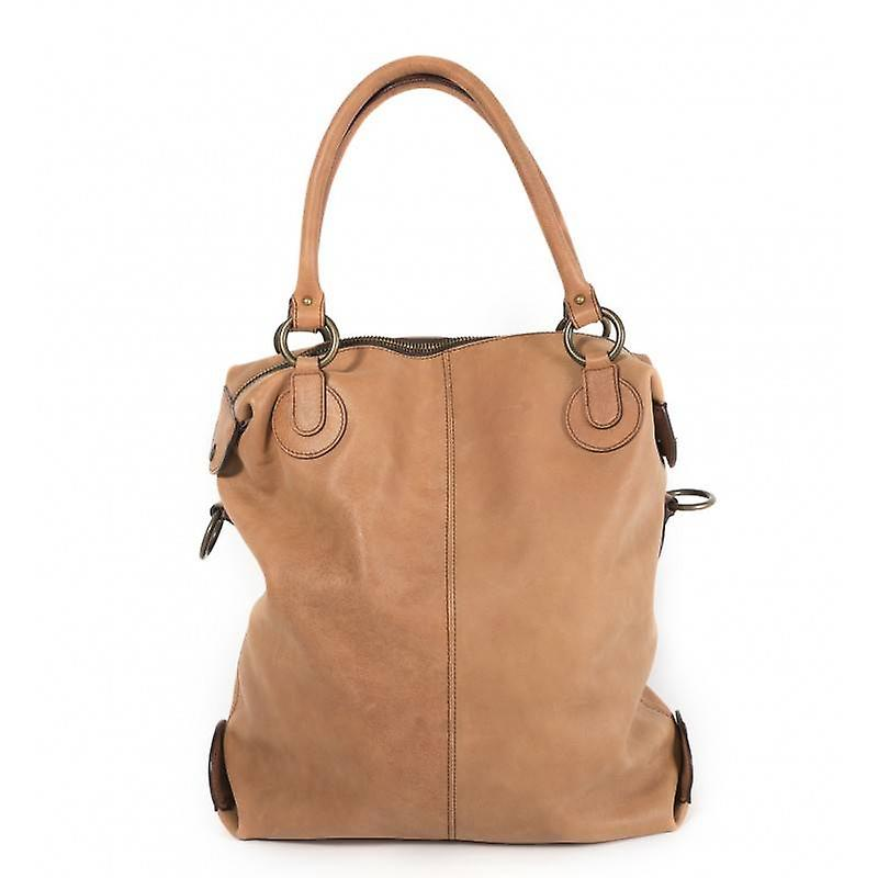 Claudia Firenze leather shoulder bag cognac