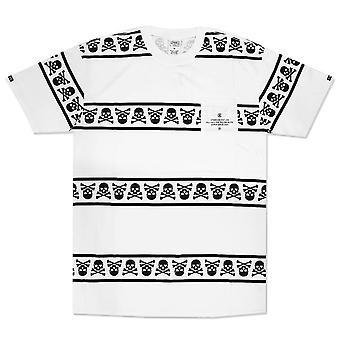 Ladrones y castillos cráneo Escuadrón bolsillo camiseta blanco