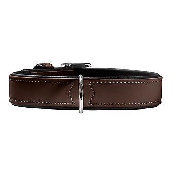 Hunter Softie 55 Adjustable Nubuck Leather Collar Brown 42-50cm