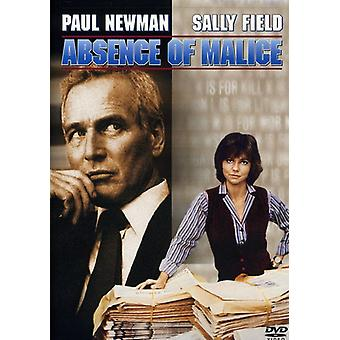 Absence of Malice [DVD] USA import
