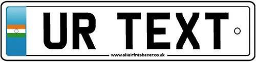 Personalised India Flag Numberplate Car Air Freshener