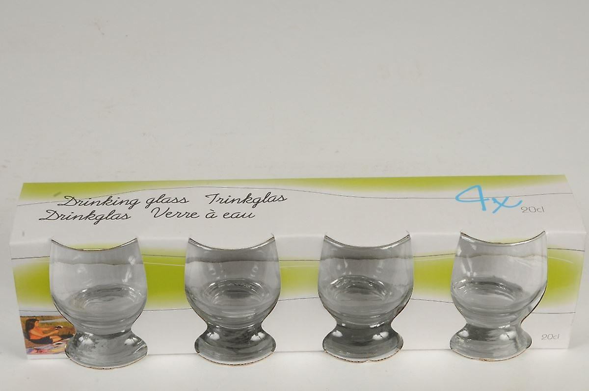 Set of 4 Drinking Glasses 20ml Party Drink Tumblers Glassware