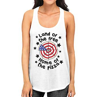 Home Of The Pizza Womens White Tank Top Gifts For Pizza Lovers