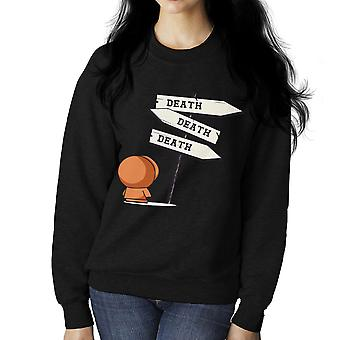 Death Signpost Kenny South Park Women's Sweatshirt