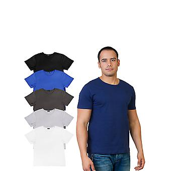 Agiato mænds grundlæggende besætning hals T-Shirt 6-Pack