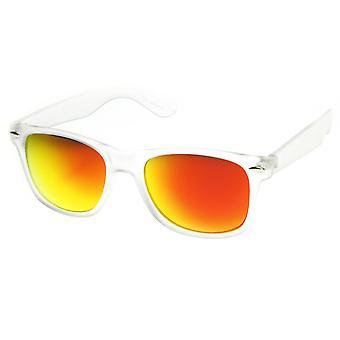 Matowe ramka kolor myślący zwierciadło obiektyw róg oprawkach okularów przeciwsłonecznych