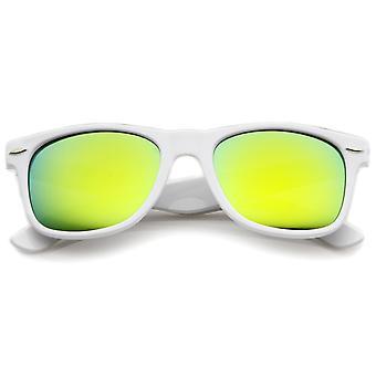 Hipster mode Flash farve spejl linse Horn kantede stil solbriller