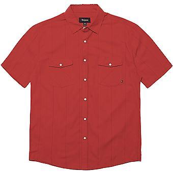 Brixton Wayne kortærmet skjorte rød