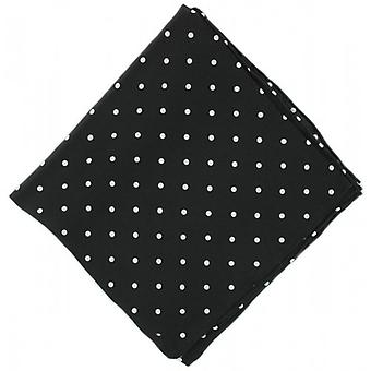 Michelsons of London Polka Dot Silk Handkerchief - Black