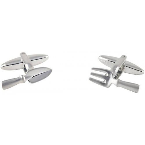 David Van Hagen Trowel and Fork Cufflinks - Silver
