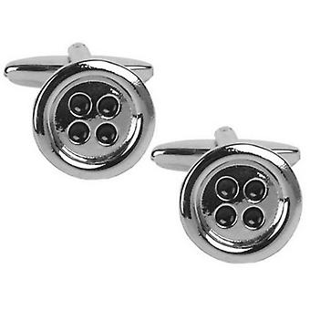 Zennor Button Cufflinks - Silber