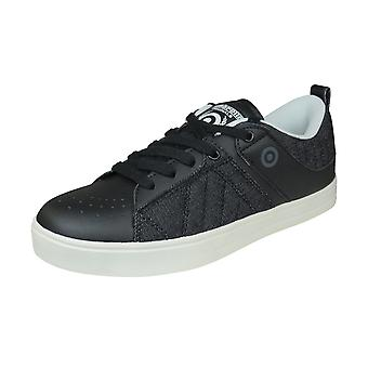 Lambretta New Denim Mens Casual Trainers / Shoes - Black