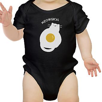 Meowgical Katze Schwarz Infant Bodysuit Baby erste Halloween-Kostüme