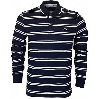 Lacoste Ph2151 manica lunga a righe Polo Navy