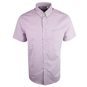 Lacoste Ch3972 Regular Fit Pink Short Sleeve Shirt