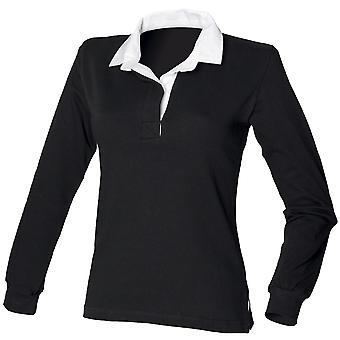 Front Row Womens/Ladies Long Sleeve Original Rugby Shirt