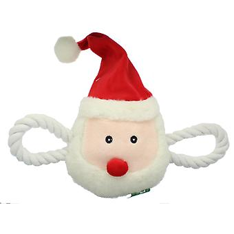 Crufts Christmas Squeaking Festive Santa Claus Pet Dog Tug Toy