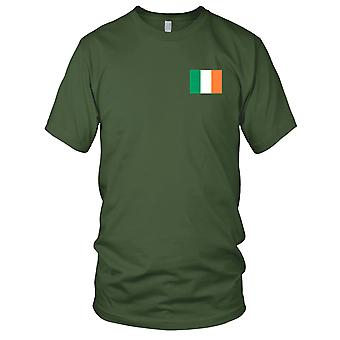 Irland-Irish Land-Nationalflagge - Stickerei Logo - 100 % Baumwolle T-Shirt Damen T Shirt