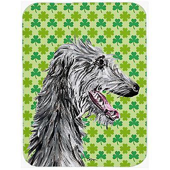 Skotsk hjortehund heldig Shamrock St. Patrick's Day Glass kutte styret stort Si