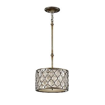 FE/LUCIA/P/C Lucia 1 Light Burnished Silver Ceiling Pendant
