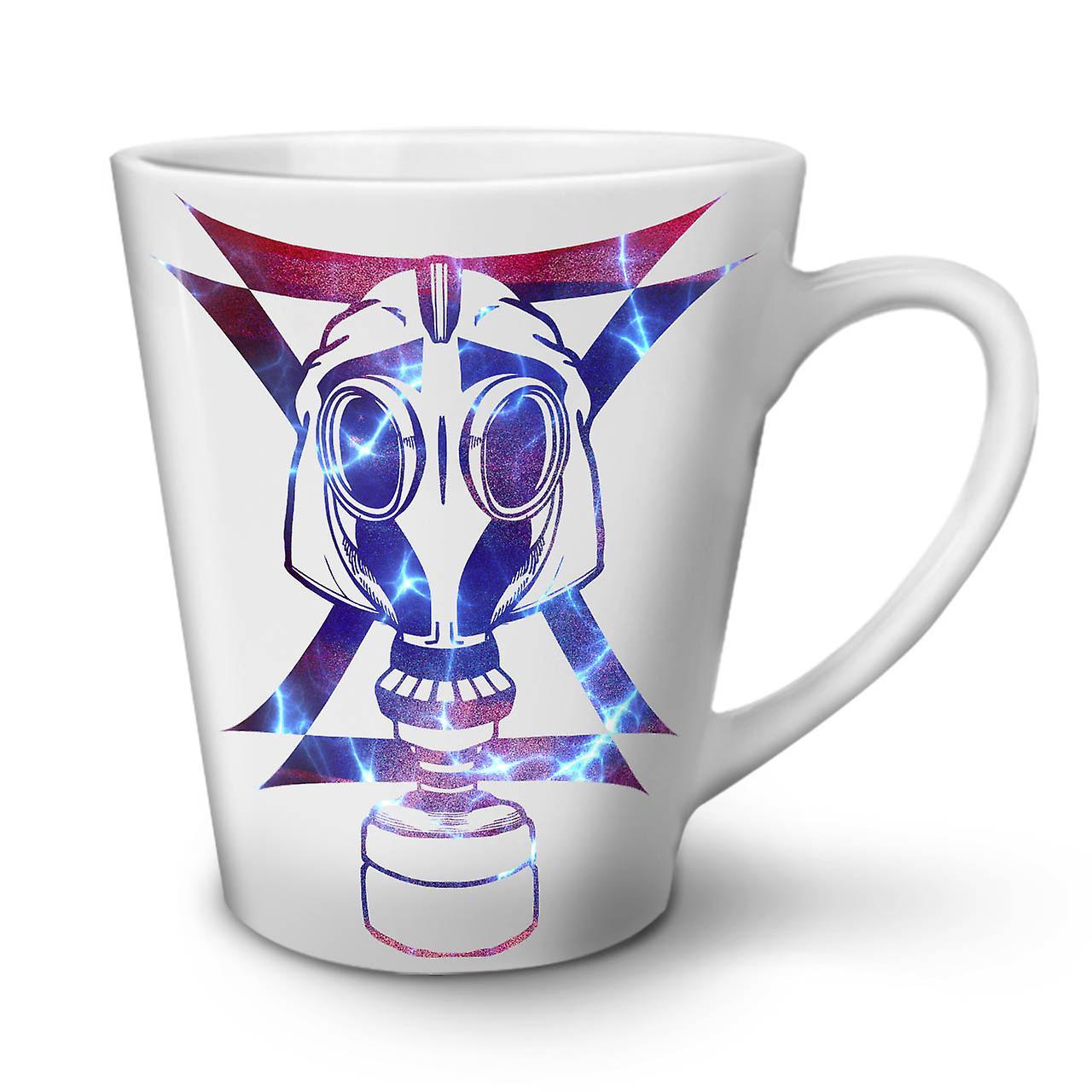 De Sur OzWellcoda Abstrait Tasse Thé Blanc En Céramique Masque Café 12 Nouvelle Latte EDWI2H9