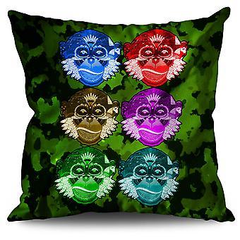 Monkey Beast Wild Animal Linen Cushion Monkey Beast Wild Animal | Wellcoda