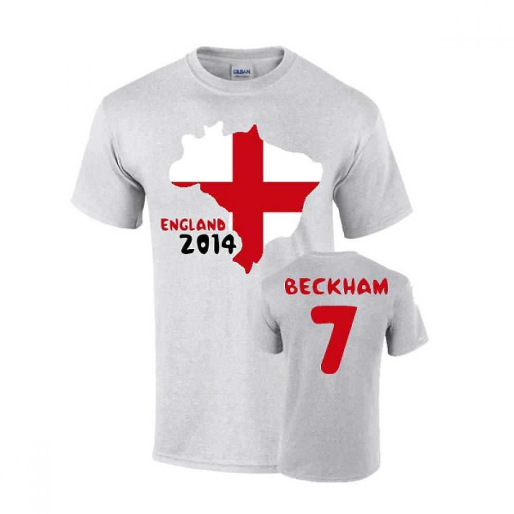 England 2014 land flagg T-shirt (beckham 7)