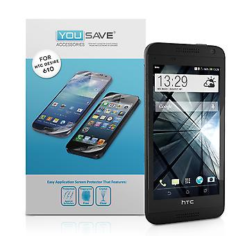 Protectores de pantalla HTC Yousave deseo 610 - 5 Pack
