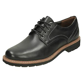 Mens Clarks Smart Lace Up Shoes Batcombe Hall - Black Leather - UK Size 10G - EU Size 44.5 - US Size 11M