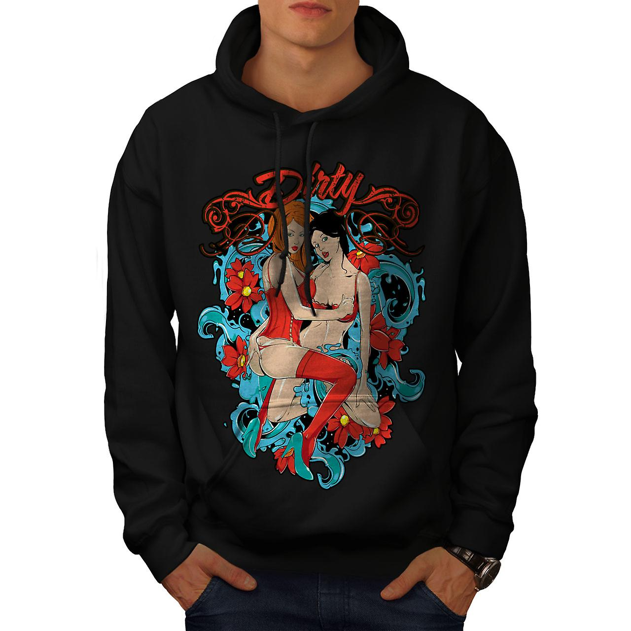 Dirty Hot Girls Nude Sexy Men Black Hoodie | Wellcoda