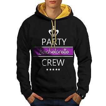 Bachelor Party mannen zwart (gouden kap) Contrast Hoodie | Wellcoda