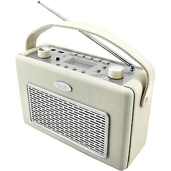 Radio AM FM USB læder creme. TR50BE