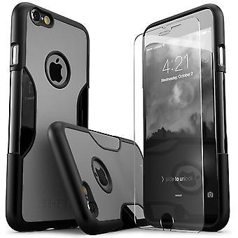 SaharaCase® iPhone 6/6s más niebla gris caso, clásico paquete Kit de protección con vidrio templado de ZeroDamage®